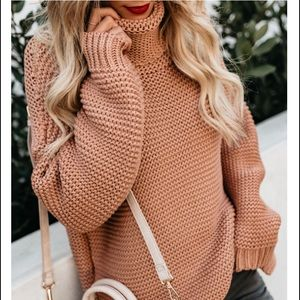 Sweaters - Caramel Hue Chunky Knit Sweater